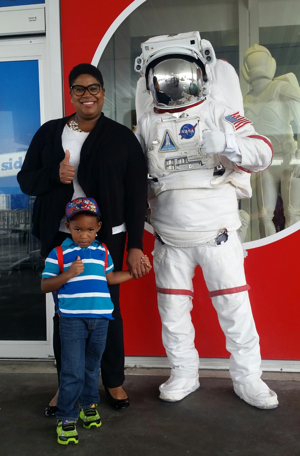 Jamese and son, Jordan, at the Kennedy Space Center in Cape Canaveral, FL.