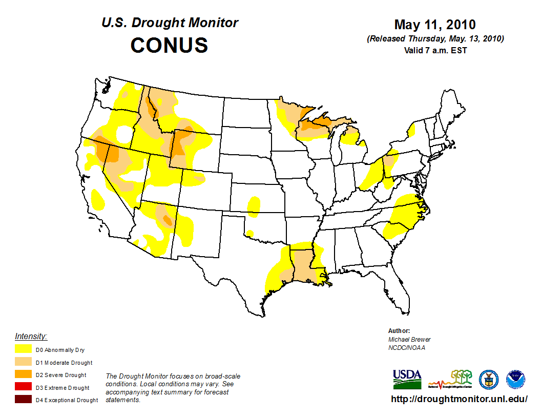 The Darker The Color The Drier It Is That Dark Dark Red That S Really Really Bad Image Credit The National Drought Mitigation Center