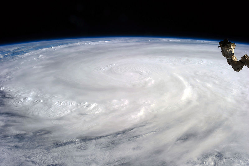 Image of Typhoon Haiyan taken from the International Space Station.