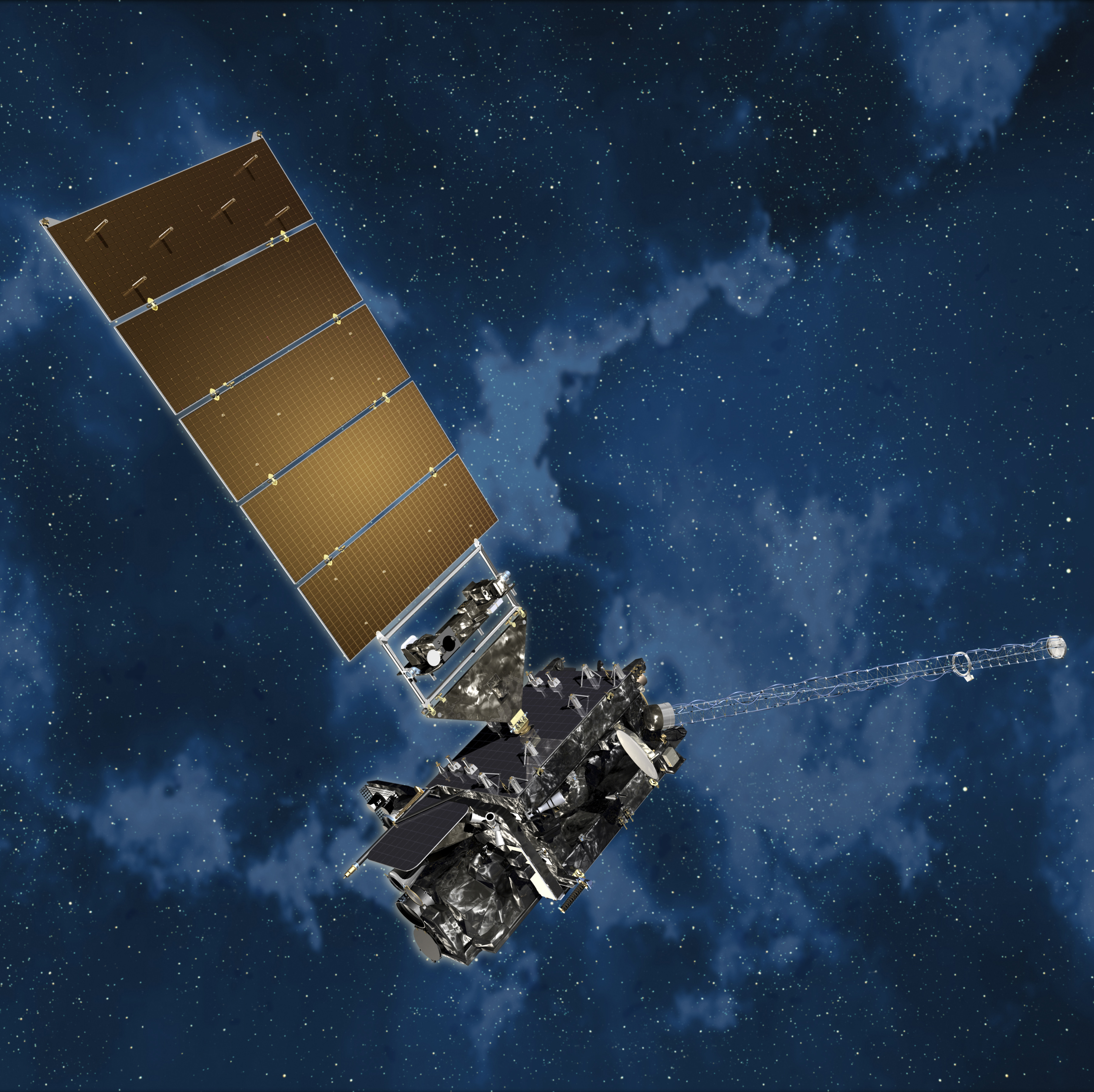 Artists rendering of a GOES-R satellite