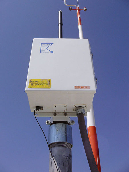 photo of a modern lightning detector.