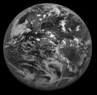 GOES image of nearly half the Earth.