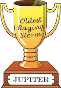 Cartoon trophy for oldest raging storm goes to Jupiter.