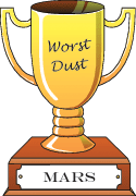 Cartoon trophy for worst dust  goes to Mars