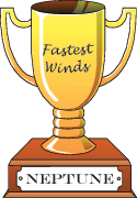 Cartoon trophy for fastet winds goes to Neptune.
