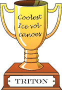 Cartoon trophy for coolest ice volcanoes goes to Triton.