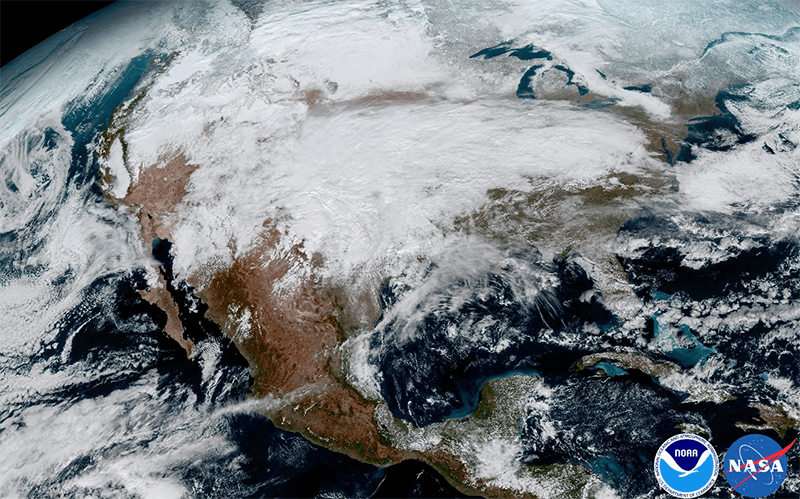 significant storm system that crossed North America that caused freezing and ice that resulted in dangerous conditions across the United States