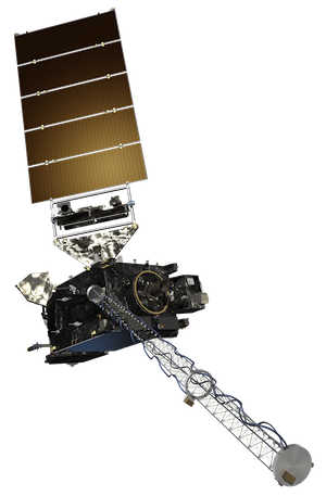 computer generated image of a GOES-R satellite