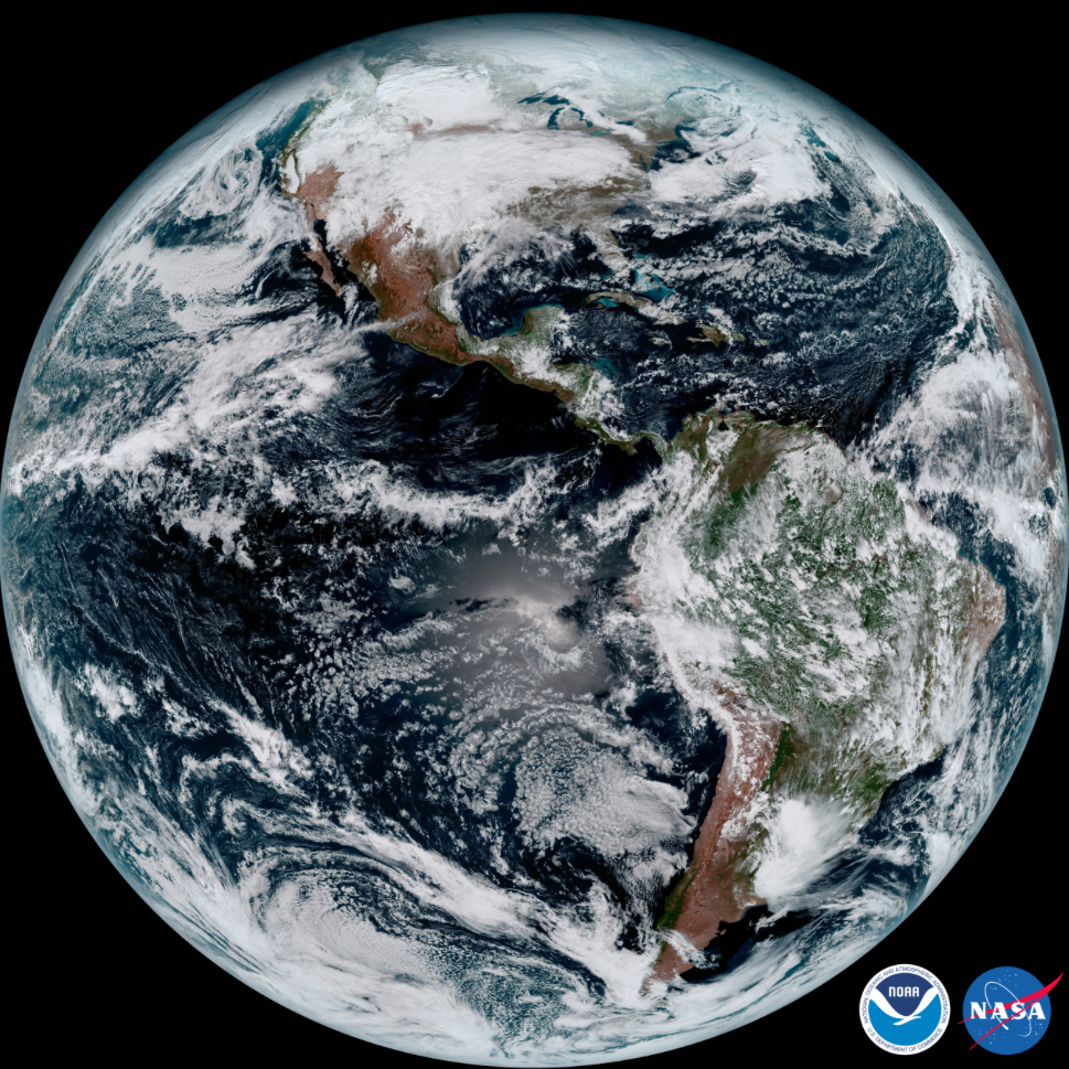Full disk GOES-16 image.