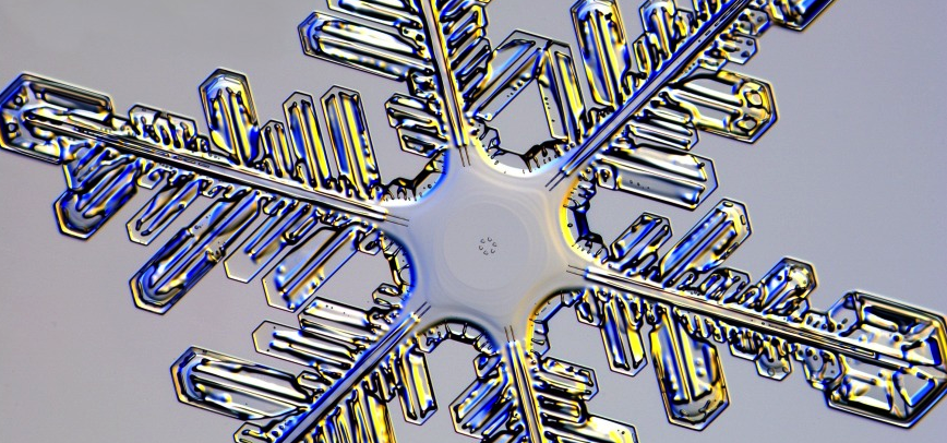 close-up photo of a snow flake