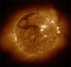 Still image of solar flare. Click to see video.