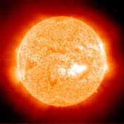 Our Sun as seen in ultraviolet light.