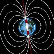 Drawing of Earth's magnetic field.