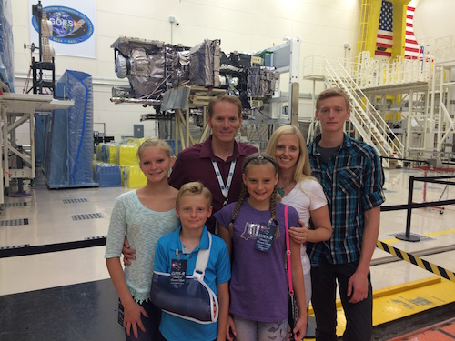 Levi Smith and his family at GOES-R family day.