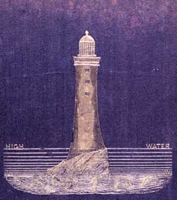 Lighthouse on the cover of a book about tides.