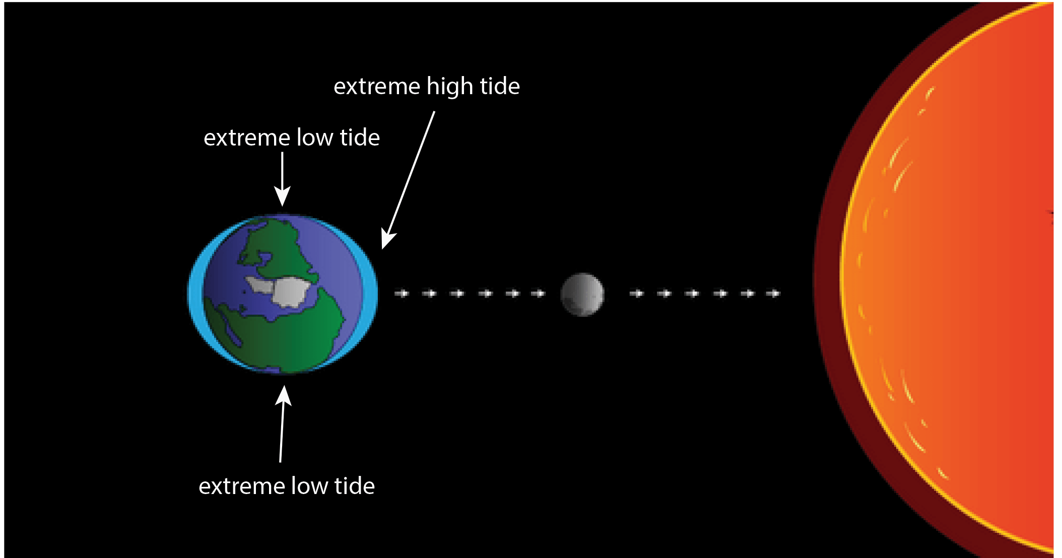 Noaa scijinks what causes tides when the gravitational pull of the sun and moon are combined you get more extreme pooptronica Choice Image