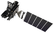 Artist's rendering of GOES-R satellite.