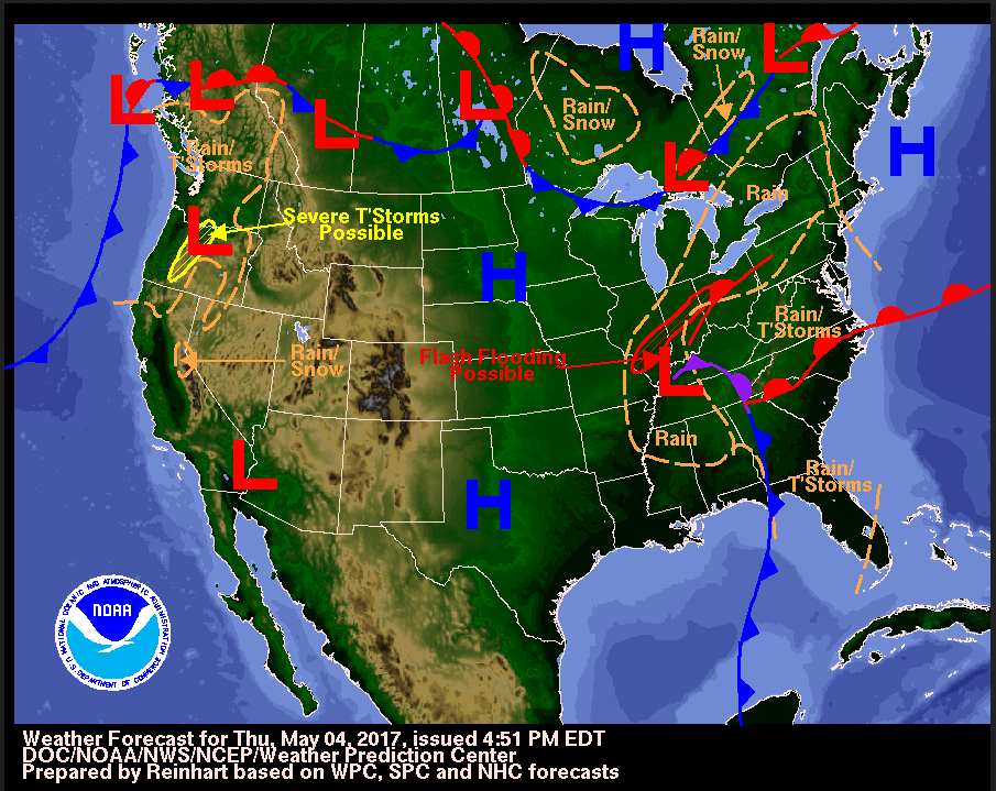 How To Read A Weather Map Noaa Scijinks All About Weather - Current-weather-us-map